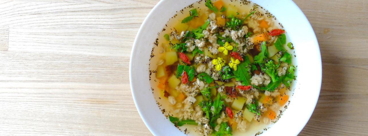 ミューズリーで簡単スープ